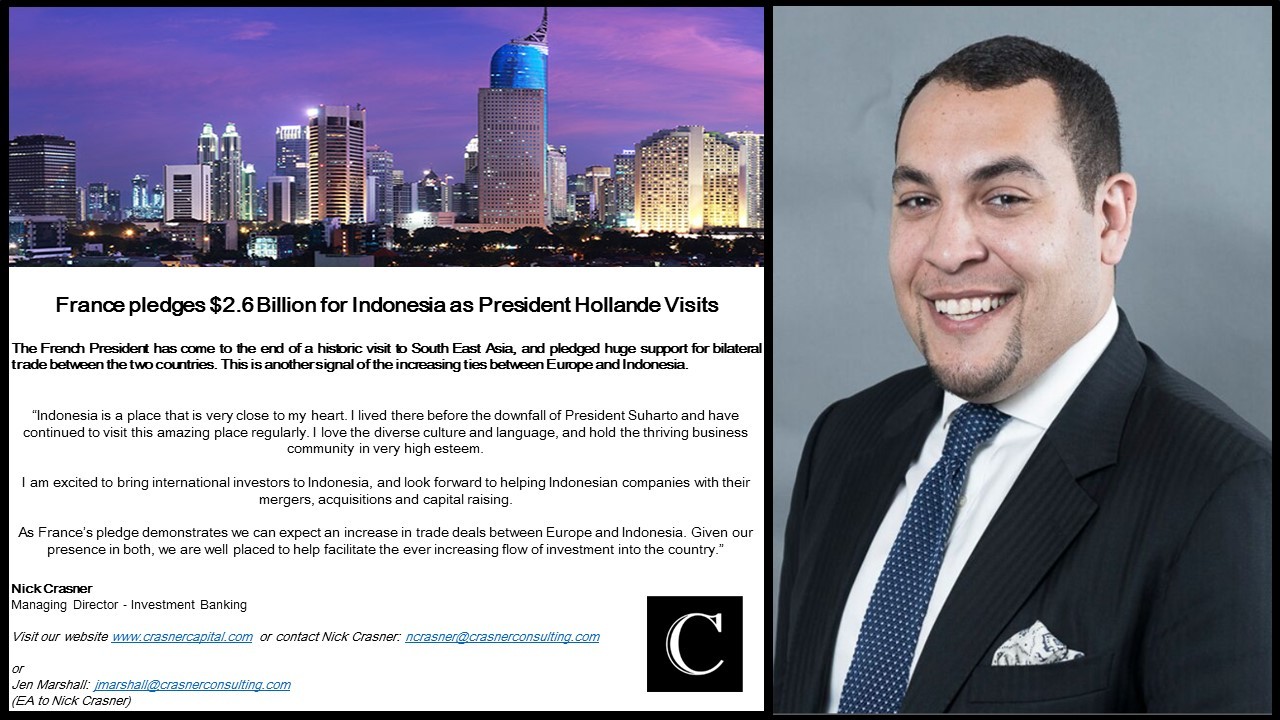 Nick Crasner Managing Director Investment Banking Comments On The Expected Increase In Trade