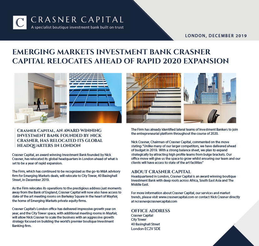 Crasner Capital Office Relocation