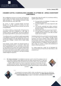 CRASNER CAPITAL PRESS RELEASE, CRASNER CAPITAL CHAIRMAN, NICK CRASNER, TO ATTEND UK - AFRICA INVESTMENT CONFERENCE 2021-page-001 (1)