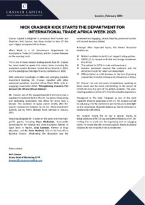 AFRICA DIT 2021 Conference Press Release FINAL